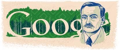 Google Logo: Yanka Kupala 130th birthday - Belarusian poet and writer