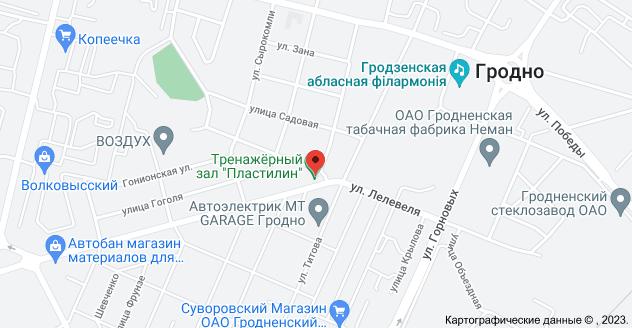 ул. Лелевеля 46, Гродно: карта