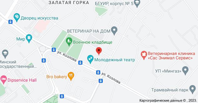 ул. Краснозвёздная 18б, Минск: карта